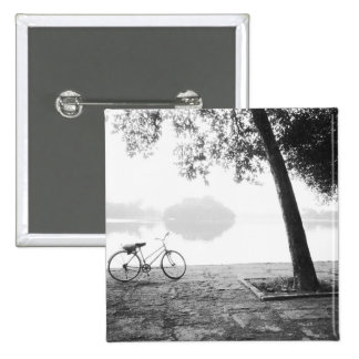 Hanoi Vietnam, Bicycle & Bay Mau Lake Lenin Park 2 Inch Square Button