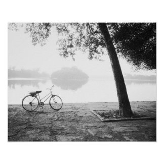 Hanoi Vietnam, Bicycle & Bay Mau Lake Lenin Park Poster