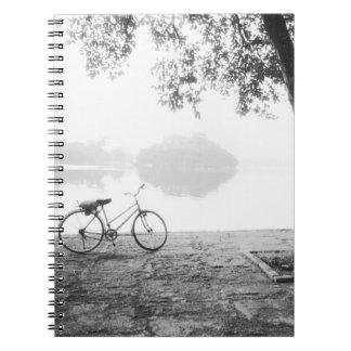 Hanoi Vietnam, Bicycle & Bay Mau Lake Lenin Park Spiral Notebook