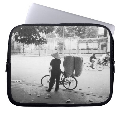 Hanoi Vietnam, Bicyle Delivery Woman (NR) Laptop Sleeves
