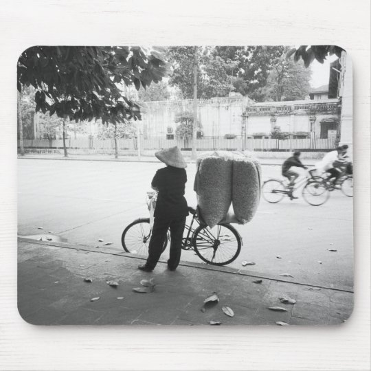 Hanoi Vietnam, Bicyle Delivery Woman (NR) Mouse Pad