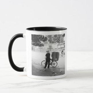 Hanoi Vietnam, Bicyle Delivery Woman (NR) Mug