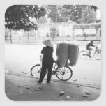 Hanoi Vietnam, Bicyle Delivery Woman (NR) Sticker