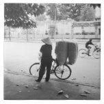 Hanoi Vietnam, Bicyle Delivery Woman (NR) Tile