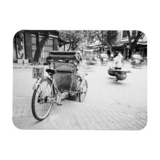 Hanoi Vietnam, ciclo en Hanoi vieja Rectangle Magnet