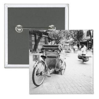 Hanoi Vietnam, Cyclo in Old Hanoi Button
