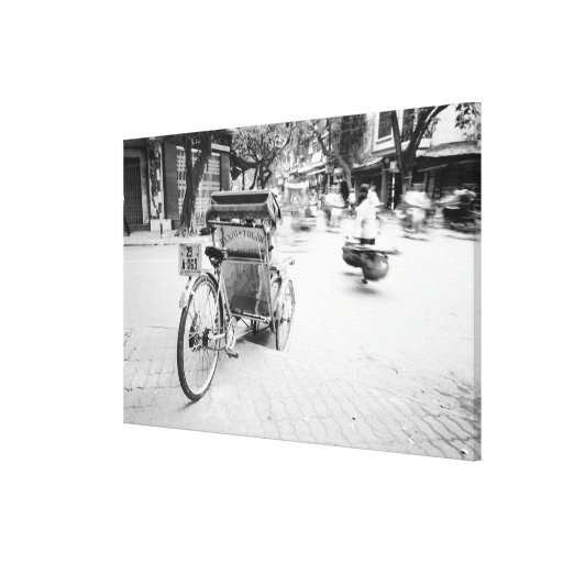 Hanoi Vietnam, Cyclo in Old Hanoi Gallery Wrapped Canvas