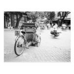 Hanoi Vietnam, Cyclo in Old Hanoi Postcard