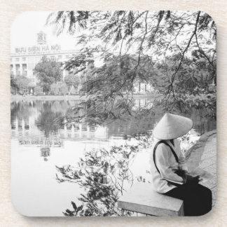 Hanoi Vietnam, Hoan Kiem Lake View (NR) Drink Coaster