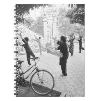 Hanoi Vietnam, Morning Excercises by Hoan Kiem Spiral Notebook