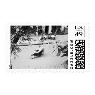Hanoi Vietnam, Motorbike in Old Hanoi Postage Stamp