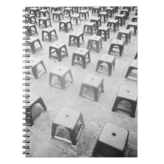 Hanoi Vietnam, Plastic Stools at the Temple of Spiral Notebook