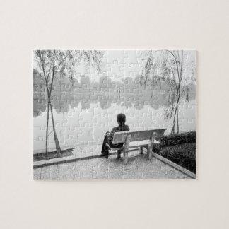Hanoi Vietnam, View of Hoan Kiem Lake (NR) Jigsaw Puzzle