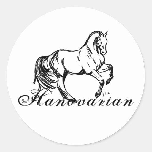 Hanovarian Horse Round Sticker