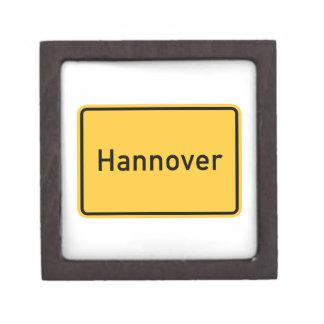 Hanover, Germany Road Sign Jewelry Box