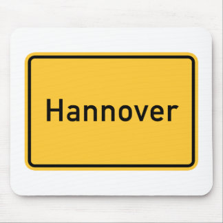 Hanover Germany Road Sign Mousepad