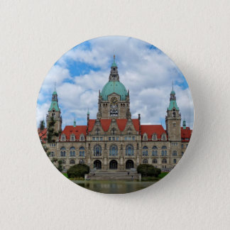 Hanover, New Town Hall, Germany (Hannover) Button