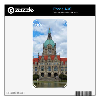 Hanover, New Town Hall, Germany (Hannover) iPhone 4 Skins