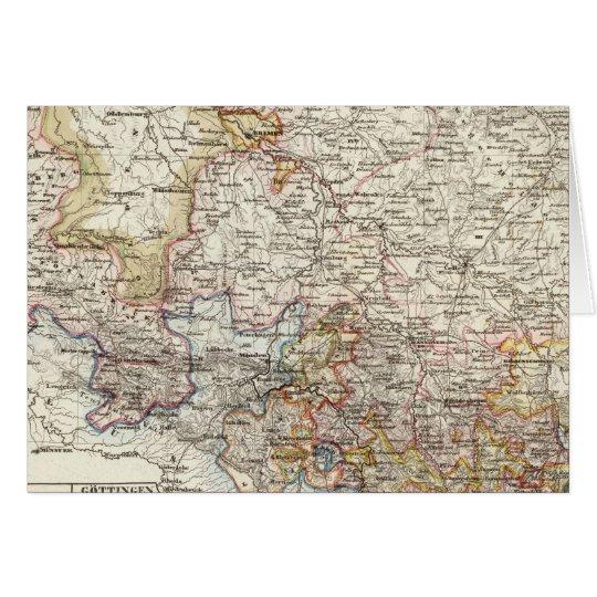 Hanover Region of Germany Card