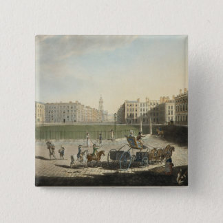 Hanover Square, engraved by Robert Pollard (1755-1 Button