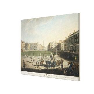 Hanover Square, engraved by Robert Pollard (1755-1 Canvas Print