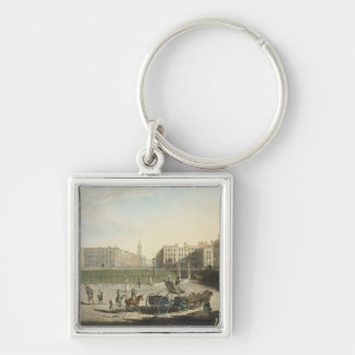 Hanover Square, engraved by Robert Pollard (1755-1 Keychain