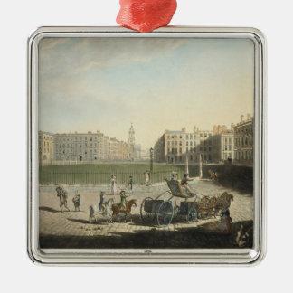 Hanover Square, engraved by Robert Pollard (1755-1 Metal Ornament