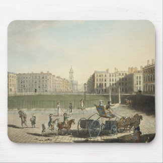 Hanover Square, engraved by Robert Pollard (1755-1 Mouse Pad