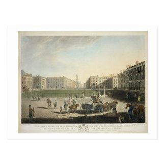 Hanover Square, engraved by Robert Pollard (1755-1 Postcard
