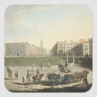 Hanover Square, engraved by Robert Pollard (1755-1 Square Sticker