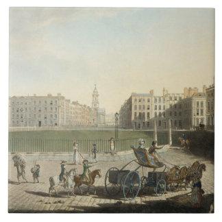 Hanover Square, engraved by Robert Pollard (1755-1 Tile
