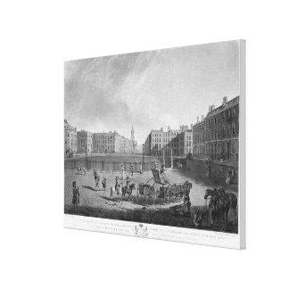 Hanover Square, from a set of four views of London Canvas Print