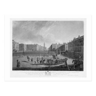 Hanover Square, from a set of four views of London Postcard