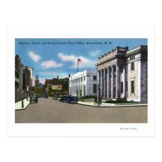 Hanover Street View of the Post Office Postcard