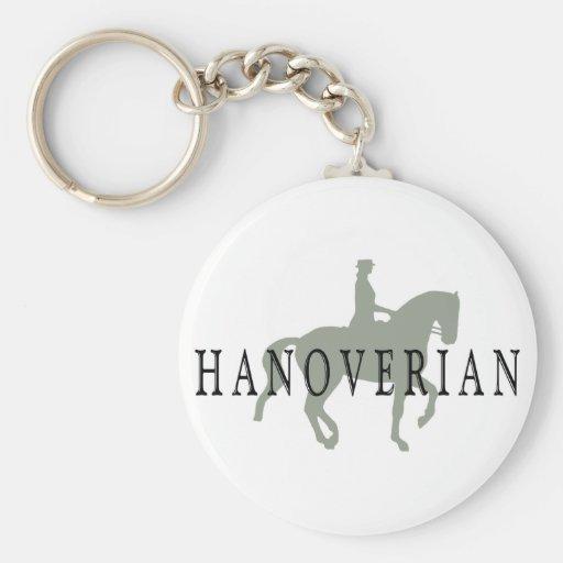 HANOVERIAN con el caballo y el jinete del Dressage Llavero