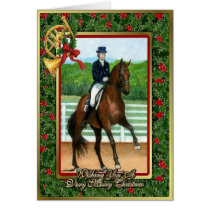 Hanoverian Dressage Horse Blank Christmas Card