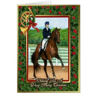 Hanoverian Dressage Horse Blank Christmas Card