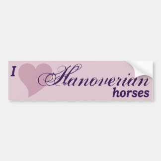 Hanoverian horses bumper sticker