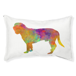 Hanoverian Scenthound in watercolor Pet Bed