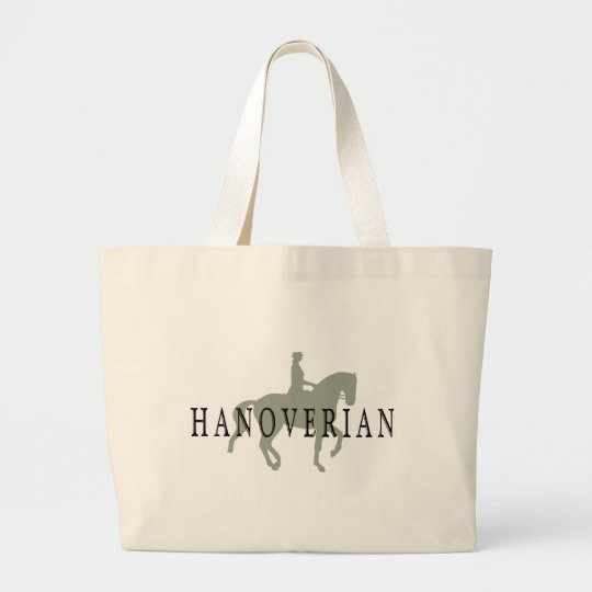 HANOVERIAN with Dressage Horse & Rider Large Tote Bag