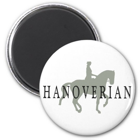 HANOVERIAN with Dressage Horse & Rider Magnet