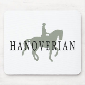 HANOVERIAN with Dressage Horse & Rider Mouse Pad