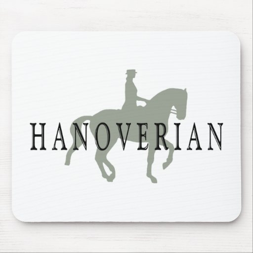 HANOVERIAN with Dressage Horse & Rider Mouse Pads