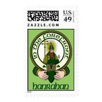 Hanrahan Clan Motto Postage Stamps