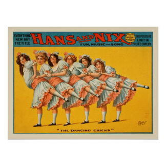 Hans and Nix Comedy Vintage Poster