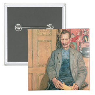Hans Arnbom, The Carpenter 2 Inch Square Button
