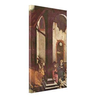 Hans Baldung - nacimiento de Cristo Impresión En Tela