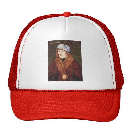 Hans Baldung- Portrait Of A Young man Mesh Hat