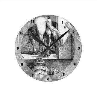 Hans Baldung: Sleeping Groom and Sorceress Round Clock