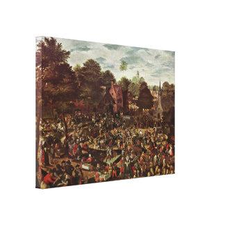 Hans Bol - Traditional fair Canvas Print